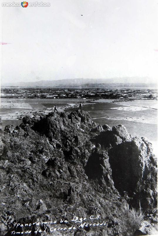 Panorama desde el Cerro del Mercado Hacia 1945