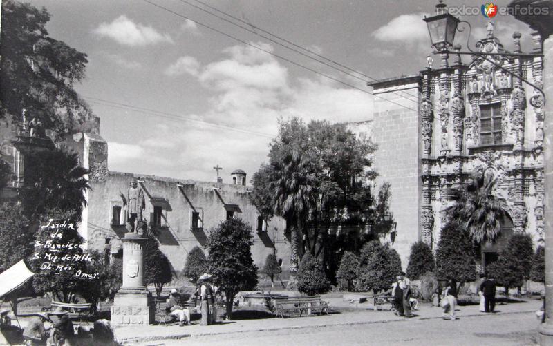 Jardin de San Francisco Hacia 1945