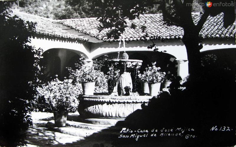 Patio Casa de Jose Mujica Hacia 1945