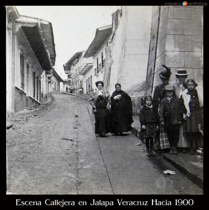 Fotos de Jalapa, Veracruz, M�xico: Escena Callejera en Jalapa Veracruz Hacia 1900
