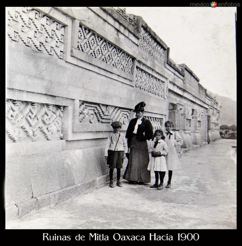 Ruinas de Mitla Oaxaca Hacia 1900