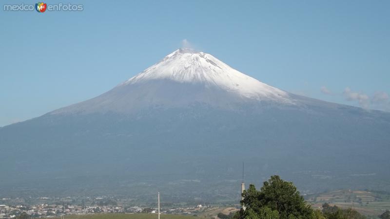Volcán Popocatépetl desde Atlixco. Julio/2014