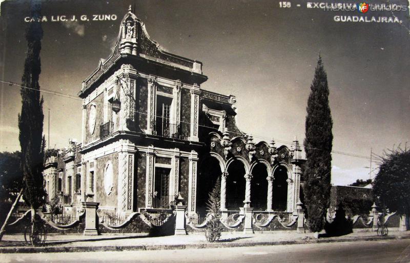 PALACIO DEL LIC. ZUNO Hacia 1945