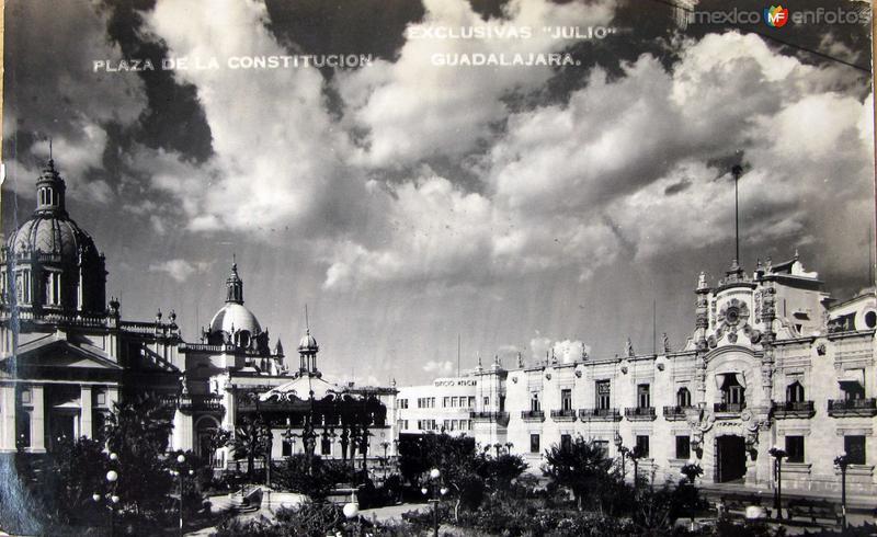 PLAZA LA CONSTITUCION Hacia 1945