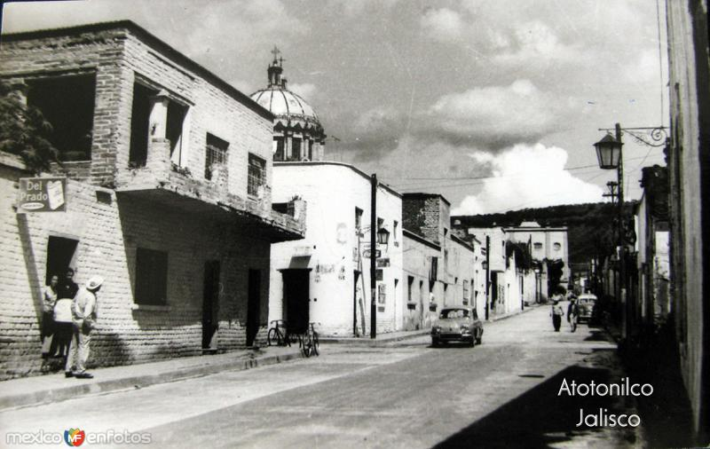 escena calleejera Hacia 1945