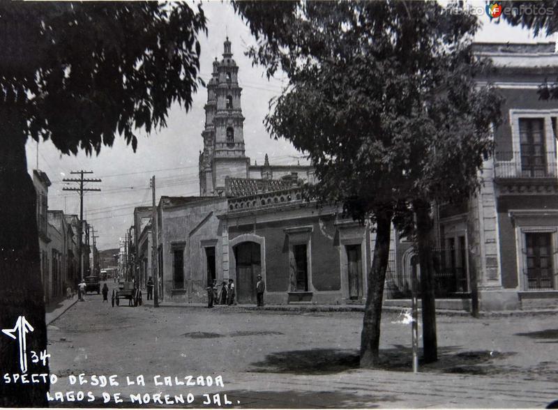ASPECTO DESDE LA CALZADA Hacia 1945