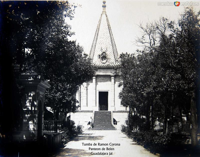 PANTEON DE BELEN TUMBA DE RAMON CORONA Hacia 1900