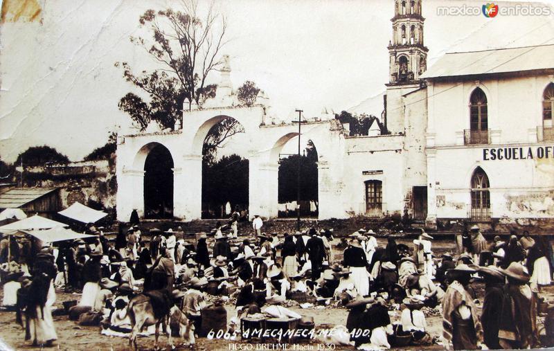 EL MERCADO por el fotografo HUGO BREHME Hacia 1930