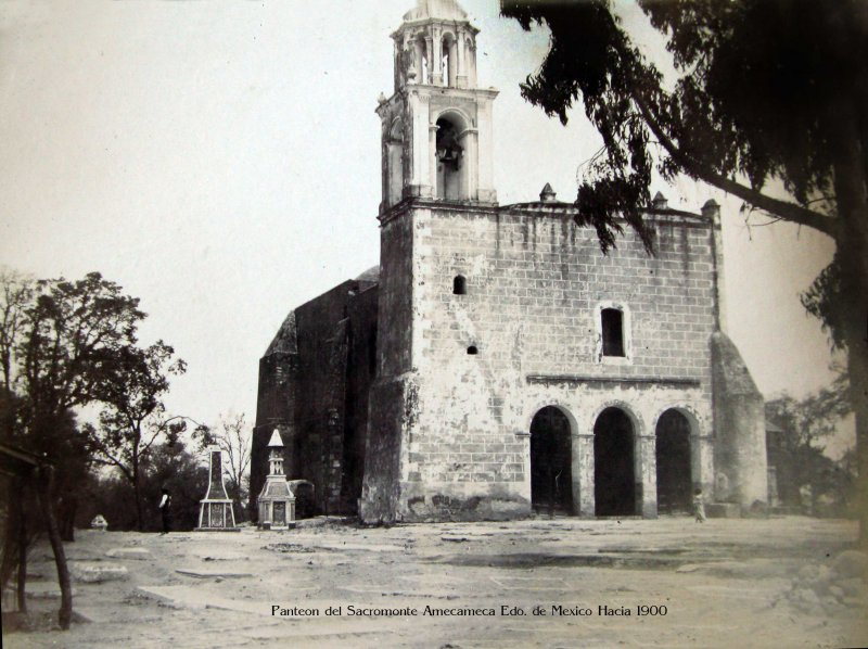 Panteon del Sacromonte Amecameca Edo. de Mexico Hacia 1900