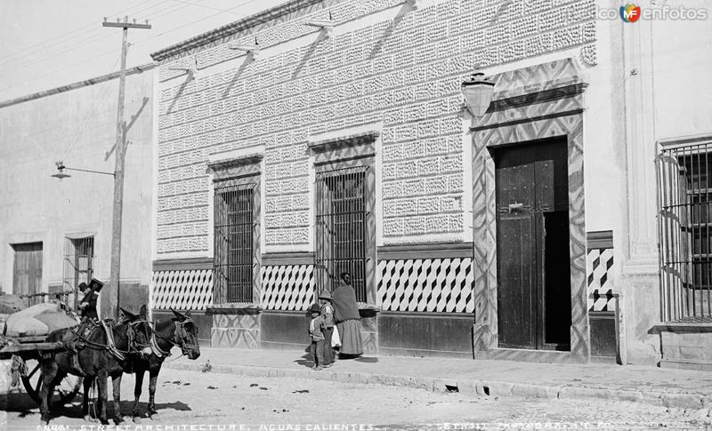 Calles de Aguascalientes (por William Henry Jackson, c. 1888)