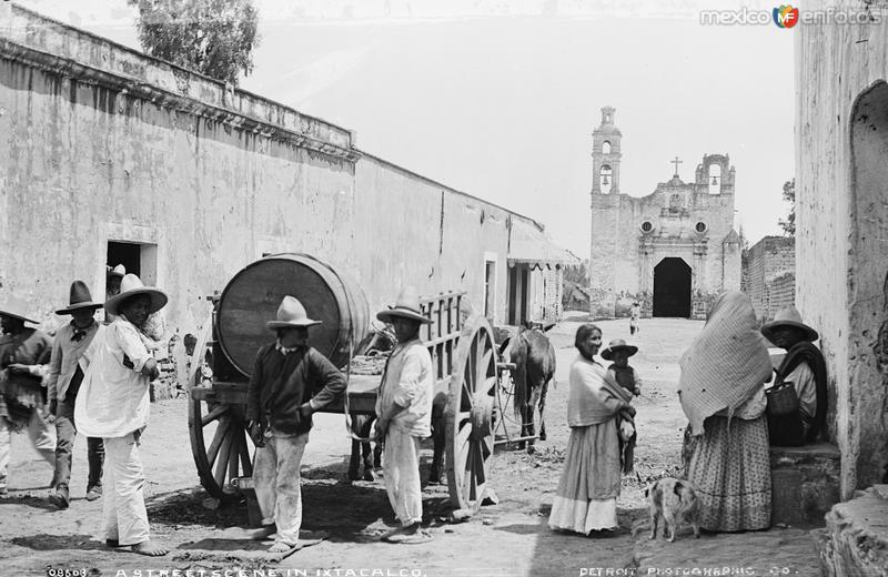 Barrio de Santa Cruz, en Iztacalco (por William Henry Jackson, c. 1888)