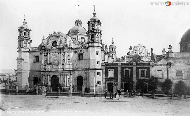 Basílica de Guadalupe (por William Henry Jackson, c. 1888)