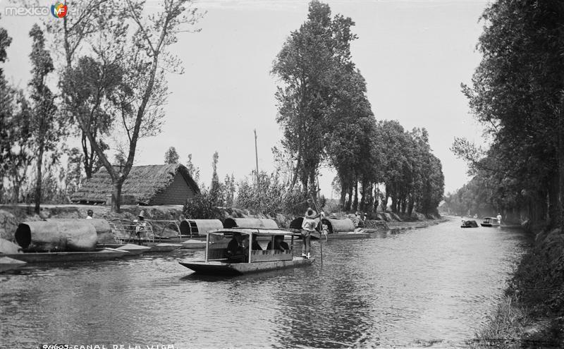 Canal de la Viga (por William Henry Jackson, c. 1889)