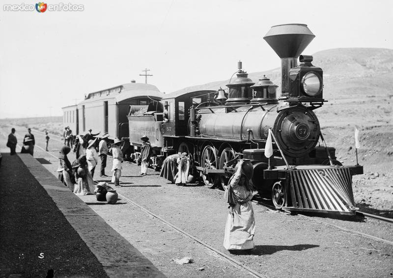 Ferrocarril Central Mexicano (por William Henry Jackson, c. 1888)