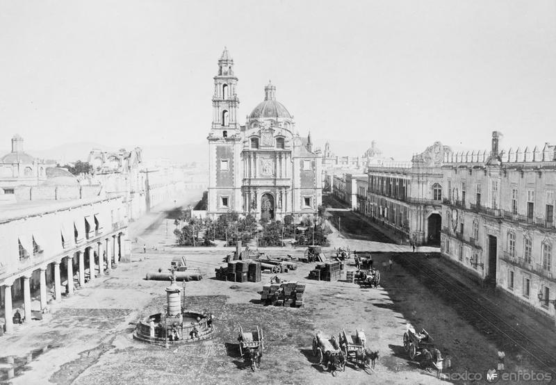 Plaza de Santo Domingo (por Abel Briquet, c. 1880)