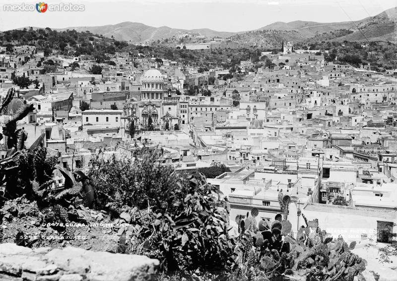 Vista de Guanajuato (por William Henry Jackson, c. 1888)