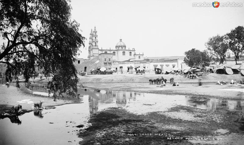 Fotos de Lagos de Moreno, Jalisco, México: Catedral de Lagos (por William Henry Jackson, c. 1888)