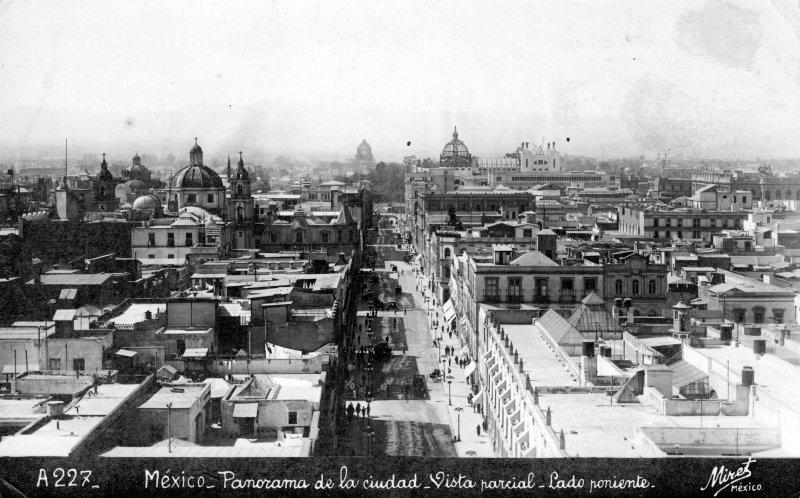 Panorama de la ciudad hacia el poniente
