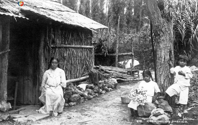 Familia en Xochimilco