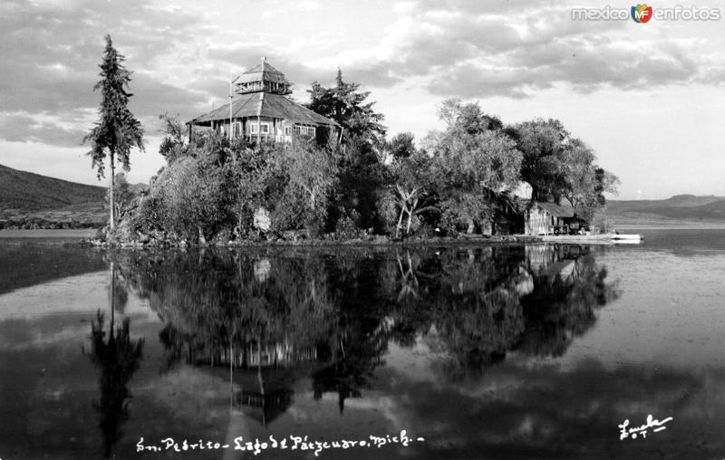 Isla de San Pedrito, en el Lago de Pátzcuaro