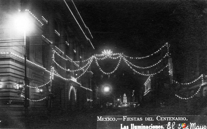 Fiestas del Centenario: Iluminaciones en calle 5 de mayo