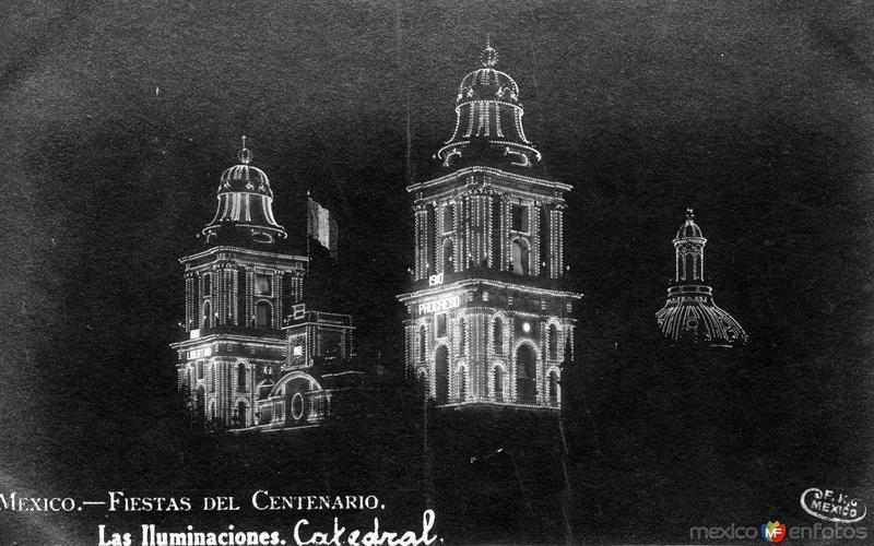 Fiestas del Centenario: Iluminación de la Catedral