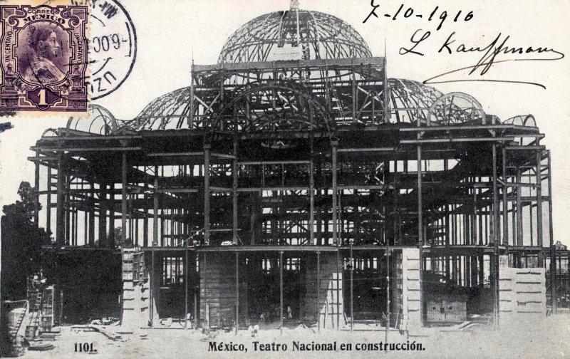 Construcción del Teatro Nacional (Palacio de Bellas Artes)