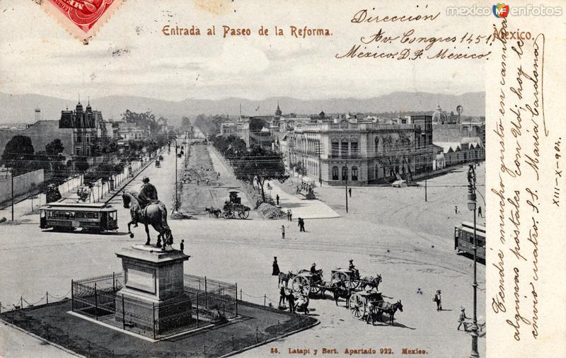 Entrada al Paseo de la Reforma