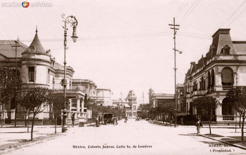 Calle de Londres, en la Colonia Juárez
