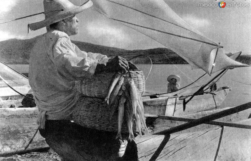Pescador en el Lago de Pátzcuaro