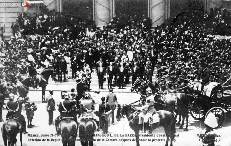 Toma de posesión del presidente interino Francisco L. de la Barra (26 de junio de 1911)
