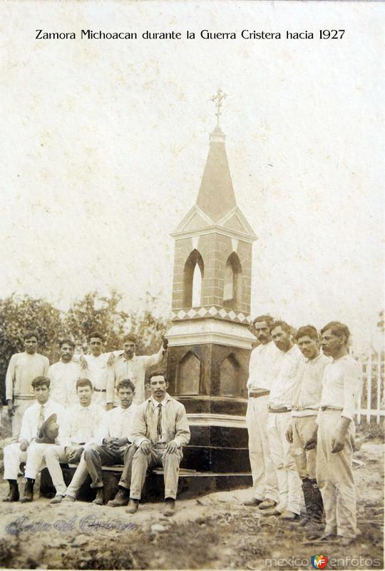 Zamora Michoacan durante la Guerra Cristera hacia 1927