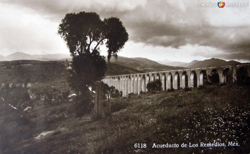 Fotos de Naucalpan de Juárez, México, México: EL ACUEDUCTO  Hacia 1946