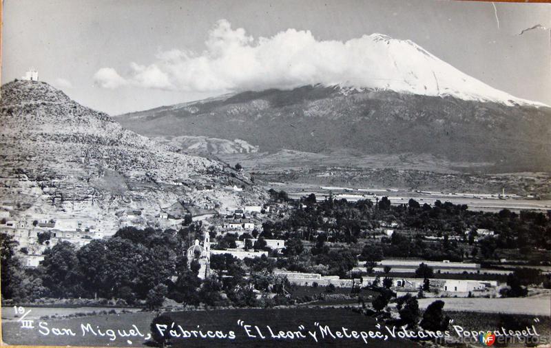 Volcan Popocatepetl Hacia 1930