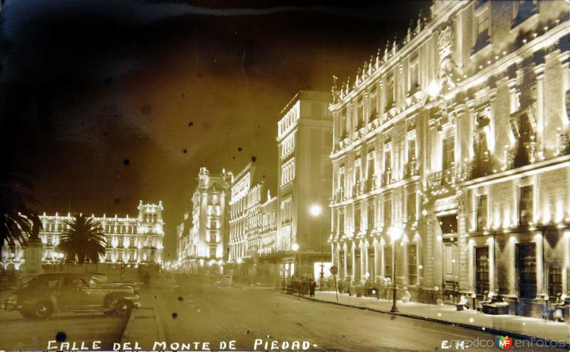 CALLE MONTE DE PIEDAD Hacia 1945