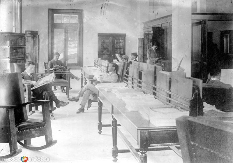 Salón de Lecturas de la YMCA (Bain News Service, c. 1912)