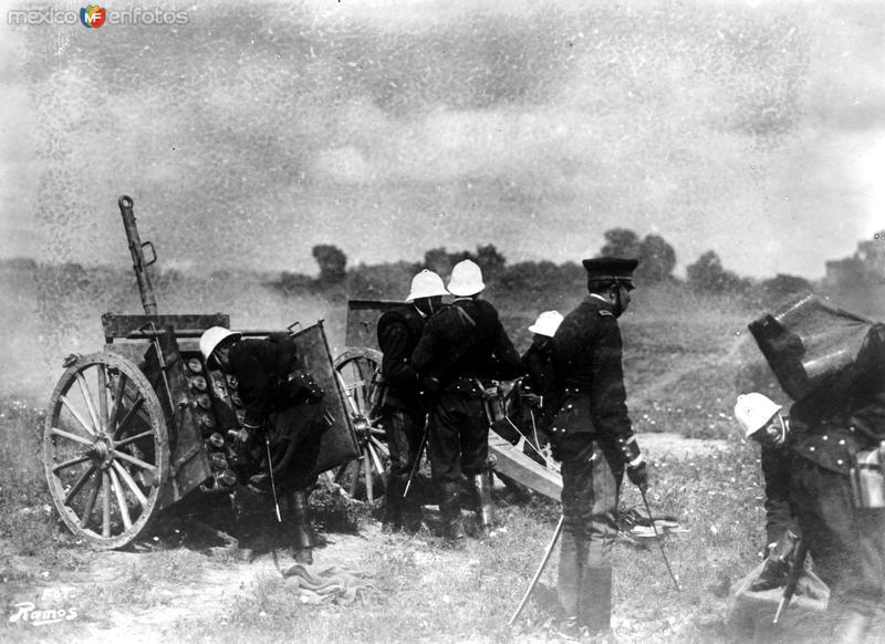 Artillería del Ejército (Bain News Service, c. 1913)