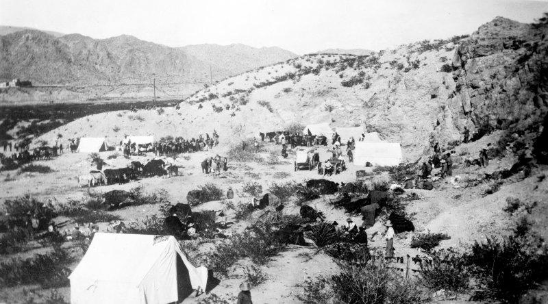 Campamento en Ciudad Juárez (Bain News Service, 1911)