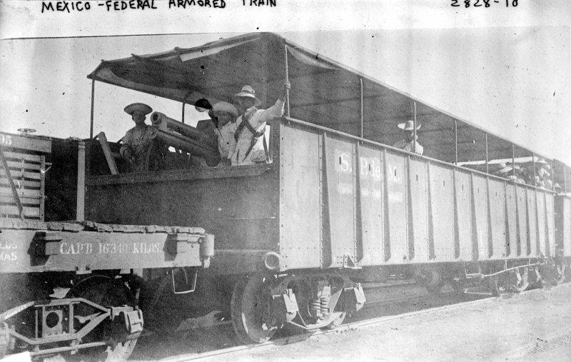 Tren armado del Ejército Federal (Bain News Service, c. 1913)