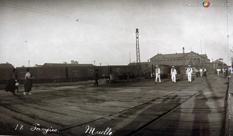 Fotos de Tampico, Tamaulipas, México: EL MUELLE Hacia 1930