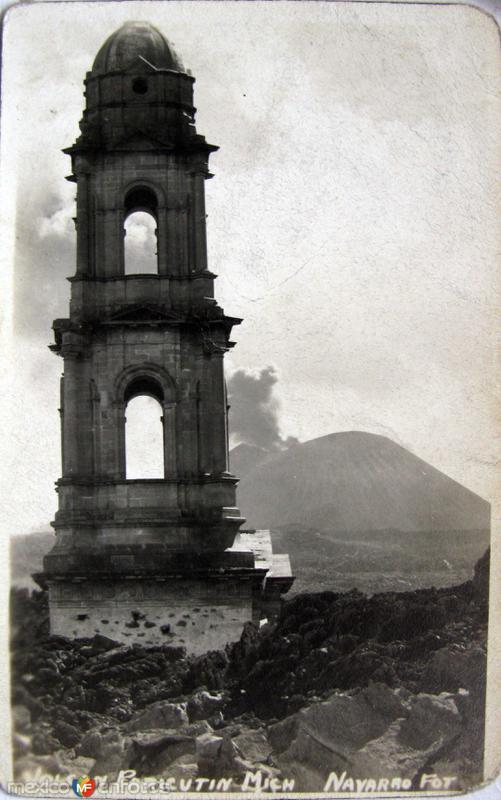 Fotos de Paricutín, Michoacán, México: ERUPCION DEL VOLCAN Hacia 1945