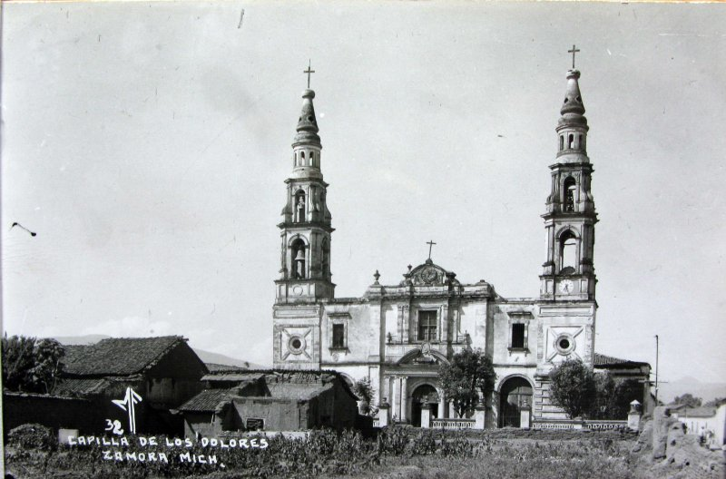 PANORAMA E IGLESIA CAPILLA DE DOLORES Hacia 1945