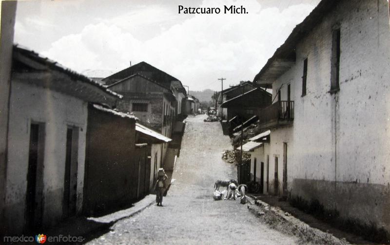 PANORAMA ESCENA CALLEJERA Hacia 1945