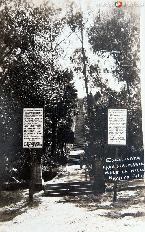 ESCALINATA DE SANTA MARIA Hacia 1945