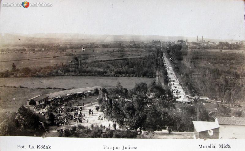 PARQUE JUAREZ PANORAMA Hacia 1900