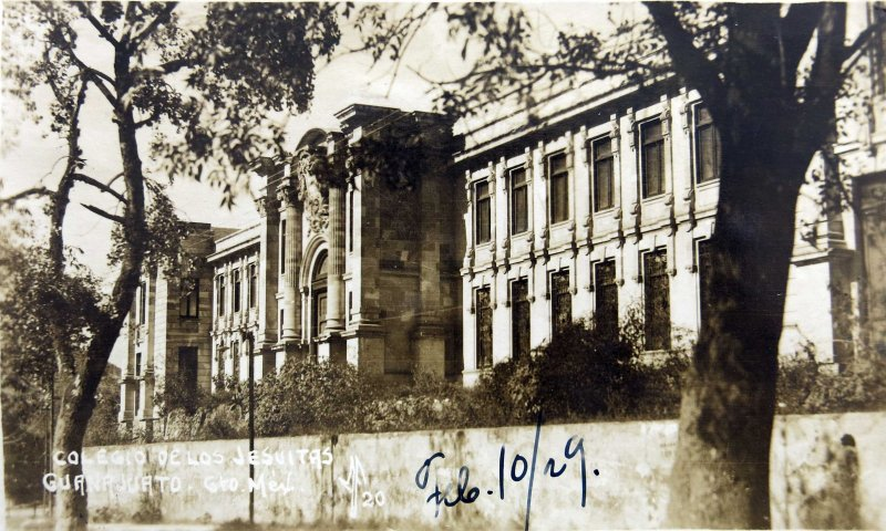 COLEGIO DE LOS JESUITAS Hacia 1929