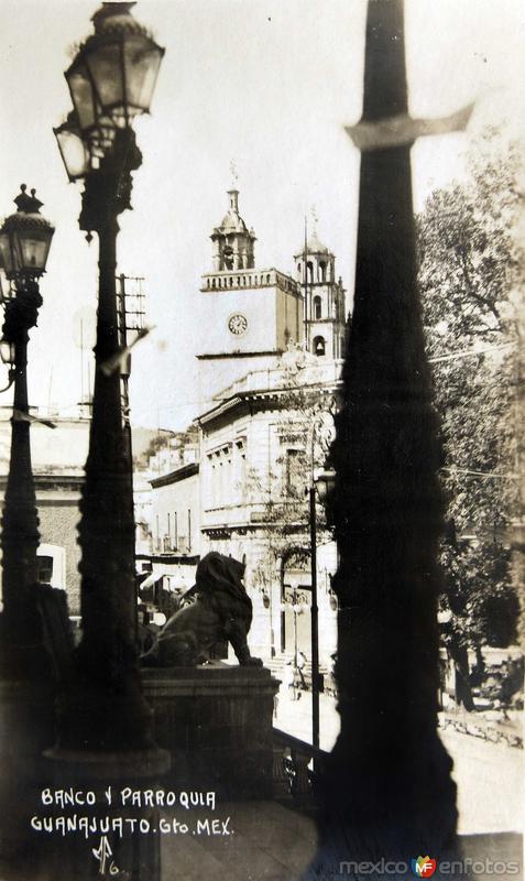 BANCO Y PARROQUIA Hacia 1929