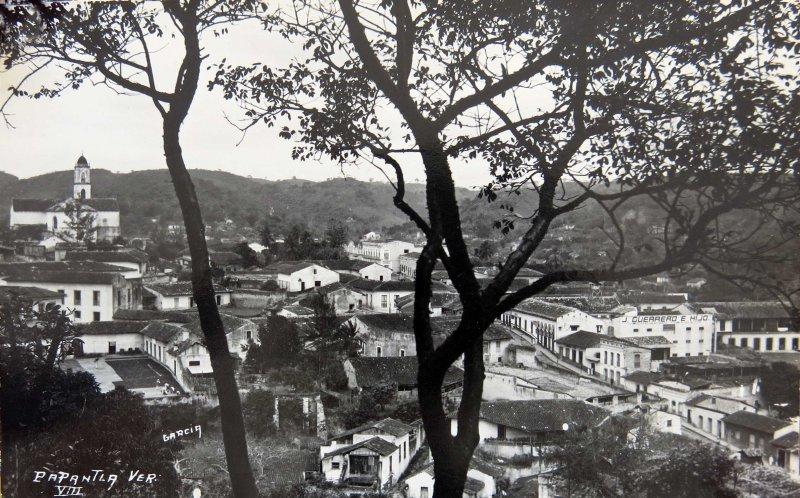 Fotos de Papantla, Veracruz, México: PANORAMA  Hacia 1940