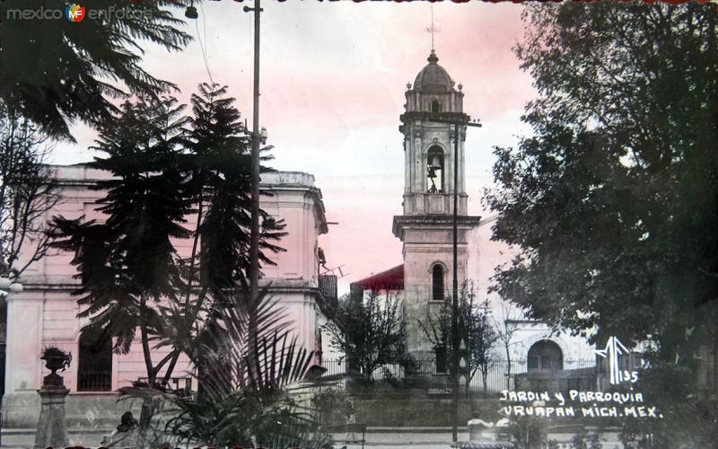 JARDIN Y PARROQUIA Hacia 1940