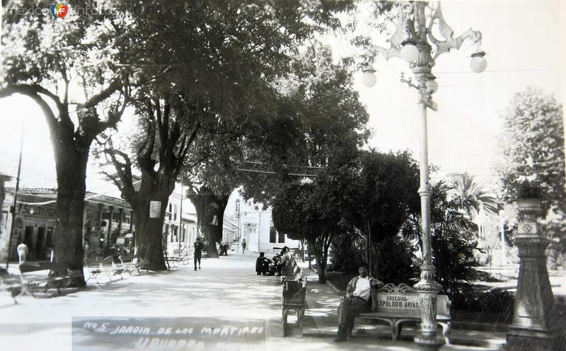 JARDIN DE LOS MARTIRES Hacia 1940